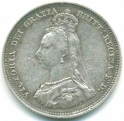 Moneta > 1szyling, 1887-1889 - Wielka Brytania  - obverse