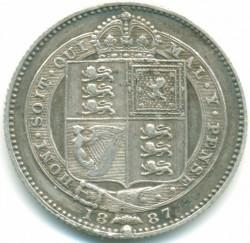 Moneta > 1szyling, 1887-1889 - Wielka Brytania  - reverse