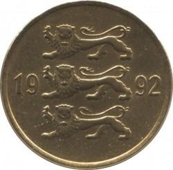 Монета > 20сенти, 1992-1996 - Естония  - reverse