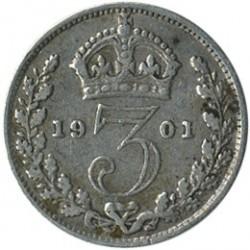 Moneta > 3pensy, 1893-1901 - Wielka Brytania  - reverse