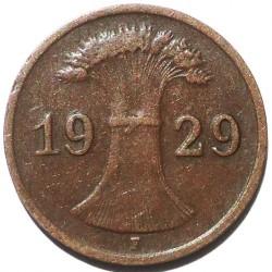 Münze > 1Reichspfennig, 1924-1936 - Deutschland  - obverse