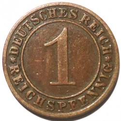 Münze > 1Reichspfennig, 1924-1936 - Deutschland  - reverse
