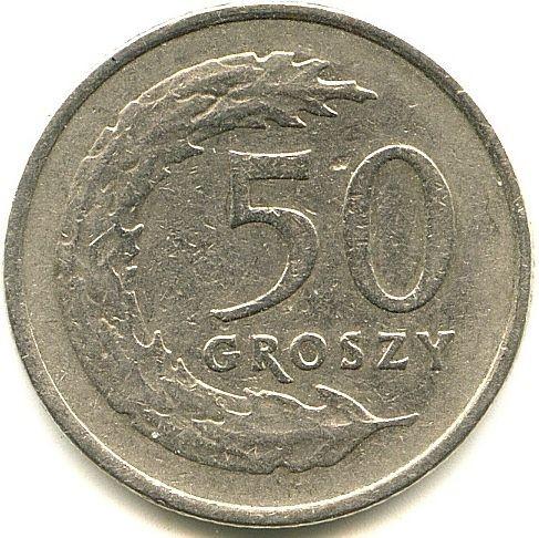 Сколько стоит монета 50 groszy 1990 года цена в украине альбомы для монет екатерины