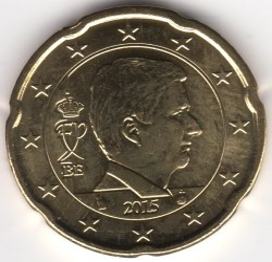 Monēta > 20centu, 2014-2017 - Beļģija  - reverse