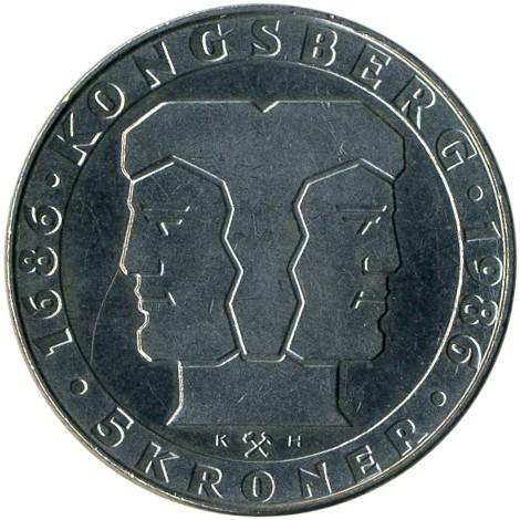 5 Kronen 1986 Norweigan Mint Norwegen Münzen Wert Ucoinnet