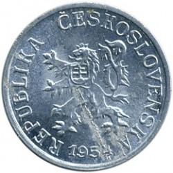 Moneda > 1heller, 1953-1960 - Txecoslovàquia  - obverse