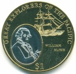 Монета > 1долар, 2009 - Фіджі  (Великі першопрохідці Тихого океану - Вільям Блай) - reverse