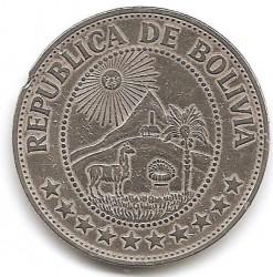 Monēta > 1peso, 1968-1980 - Bolīvija  - reverse