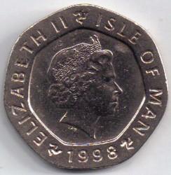 Кованица > 20пенија, 1998 - Острво Мен  - obverse
