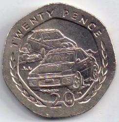 Кованица > 20пенија, 1998 - Острво Мен  - reverse