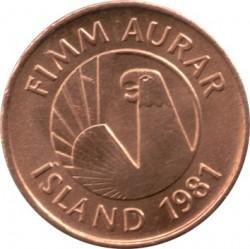 Münze > 5Aurar, 1981 - Island   - obverse