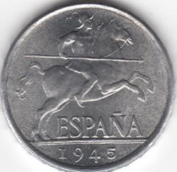 سکه > 5سنتیمو, 1940-1953 - اسپانیا  - reverse