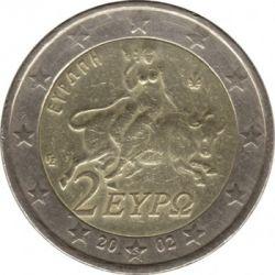 Moneda > 2euros, 2002 - Grecia  - obverse