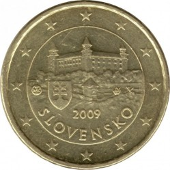 Moeda > 10cêntimos, 2009-2018 - Eslováquia  - obverse