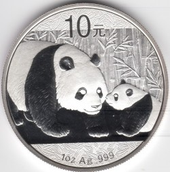Кованица > 10јуана, 2011 - Кина  (Panda) - obverse