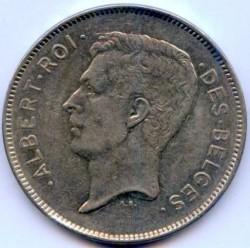 Coin > 20francs, 1931-1932 - Belgium  (Legend in French - 'ALBERT ROI DES BELGES') - obverse