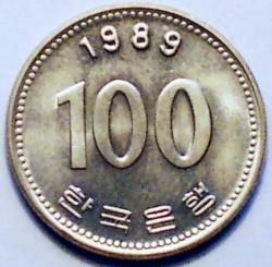 Moneta > 100vonų, 1989 - Pietų Korėja  - reverse