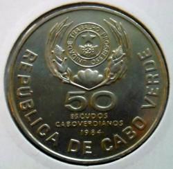 Moneta > 50scudi, 1984 - Capo Verde  (FAO - Conferenza mondiale della pesca) - obverse