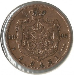 Coin > 5bani, 1882-1885 - Romania  - obverse