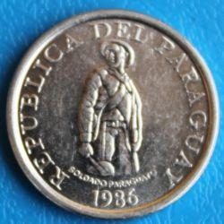 Coin > 1guarani, 1986 - Paraguay  - reverse