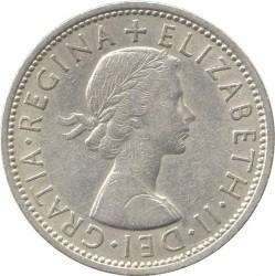 Moneda > 2chelines(florín), 1954-1970 - Reino Unido  - obverse