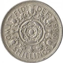 Moneda > 2chelines(florín), 1954-1970 - Reino Unido  - reverse