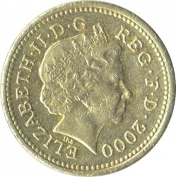 Moneta > 1svaras, 2000 - Jungtinė Karalystė  - obverse