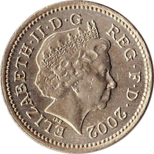 1 Pfund 2002 Vereinigtes Königreich Münzen Wert Ucoinnet