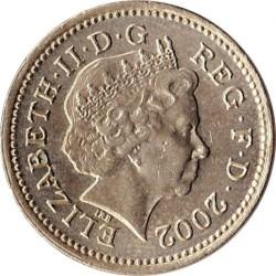 Mynt > 1pund, 2002 - Storbritannia  - obverse