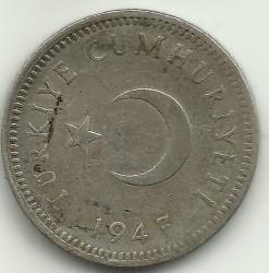 Moneta > 50kurušų, 1947-1948 - Turkija  - obverse