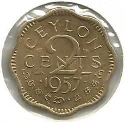 Moneta > 2centai, 1955-1957 - Ceilonas  - reverse