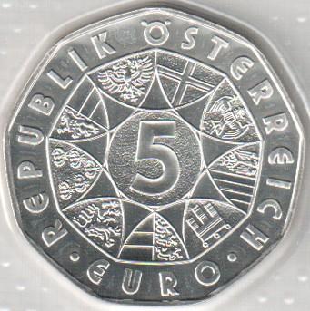 5 Euro 2006 Wolfgang Amadeus Mozart österreich Münzen Wert