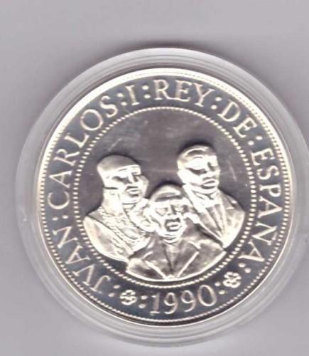 DISCOVERY OF AMERICA 3RW 08 GEN SILVER COIN SPAIN 2000 PESETAS 1989