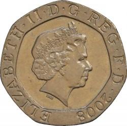 Moneta > 20pensų, 2008-2015 - Jungtinė Karalystė  - obverse