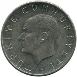 Moneta > 1lira, 1957 - Turkija  - reverse