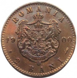 Pièce > 2bani, 1900 - Roumanie  - reverse