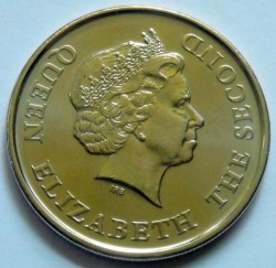 Moneta > 2dollari, 2011 - Caraibi Orientali  (10° anniversario - Mese d'informazione finanziaria) - obverse