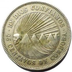 Moeda > 25centavos, 1939-1956 - Nicarágua  - reverse