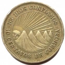 Moeda > 10centavos, 1939-1956 - Nicarágua  - reverse