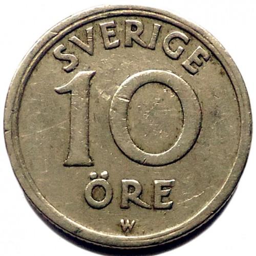 10 öre 1920 1947 Schweden Münzen Wert Ucoinnet