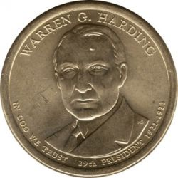 Münze > 1 Dollar, 2014 - USA  (President of the USA - Warren G. Harding (1921–1923)) - obverse