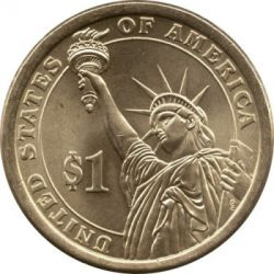 Münze > 1 Dollar, 2014 - USA  (President of the USA - Warren G. Harding (1921–1923)) - reverse