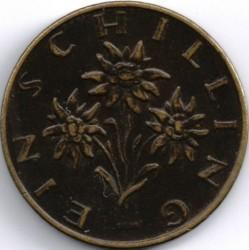 Coin > 1schilling, 1972 - Austria  - reverse