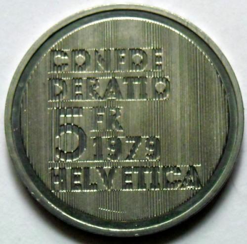 5 Franken 1979 Albert Einstein Portrait Schweiz Münzen Wert
