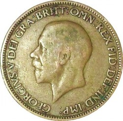Coin > ½ penny, 1928-1936 - United Kingdom  - obverse