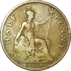 Coin > ½ penny, 1928-1936 - United Kingdom  - reverse