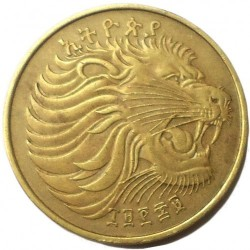 Кованица > 10центи, 1977 - Етиопија  (Brass /non-magnetic/) - obverse