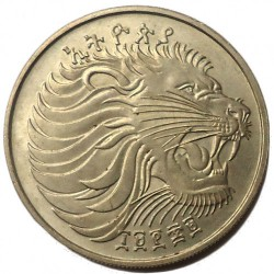 Кованица > 50центи, 1977 - Етиопија  (Copper-Nickel /non-magnetic/) - obverse