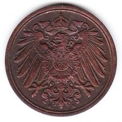 Монета > 1пфенниг, 1890-1916 - Германия  - obverse