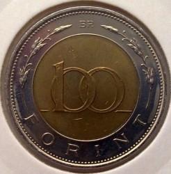Монета > 100форинтів, 2002 - Угорщина  (200-та річниця - Народження Лайоша Кошута) - obverse